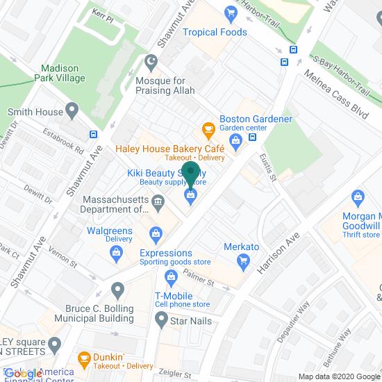 Map of Roxbury - Boston, MA